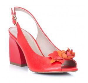 czerwone sandały damskie