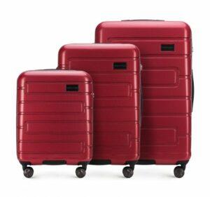 kiermasz WITTCHEN: czerwony zestaw walizek z kolekcji Trail Style 3