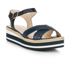 granatowe sandały damskie
