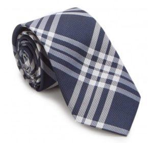 Prezent na Dzień Ojca: granatowo-biały krawat