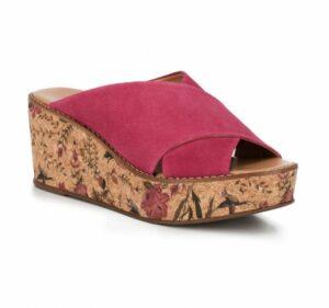 letnie buty damskie: klapki na koturnie