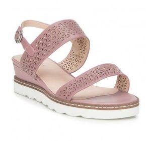 letnie stylizacje: perforowane sandały damskie