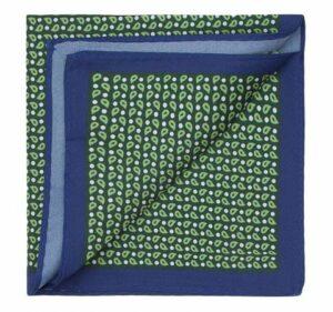 zielono-niebieska poszetka