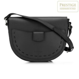 czarna torebka saddle bag