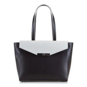 czarno-biała torebka z kolekcji Elegance