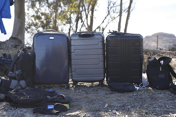 walizki w dniu zaćmienia
