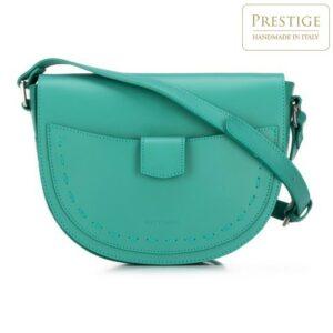 zielona torebka saddle bag