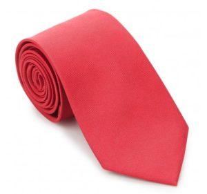 modne krawaty: czerwony krawat z jedwabiu