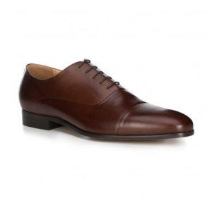 brązowe buty męskie ze skóry licowej