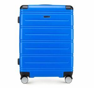 niebieska walizka z kolekcji Corner Line