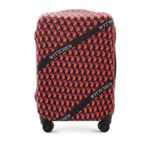 bagaż na lotnisku: ochronny pokrowiec na walizkę średnią