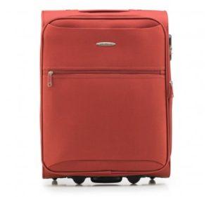 pomarańczowa walizka z kolekcji Basic+ na wakacje last minute