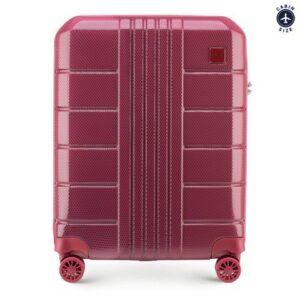 walizka kabinowa w czerwonym kolorze