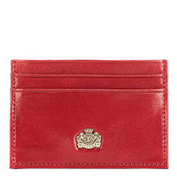 czerwony holder na karty kredytowe