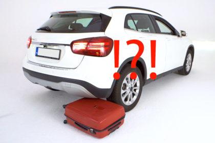 Walizka przejechana przez samochód, czyli test wytrzymałości