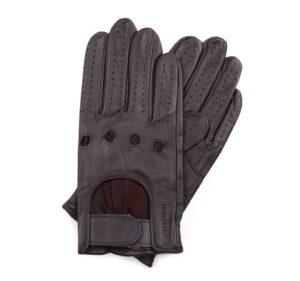 brązowe rękawiczki samochodwe