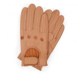 camelowe rękawiczki samochodowe