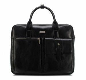 czarna torba na laptopa