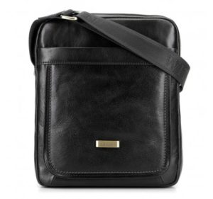 czarna torba z nutą retro