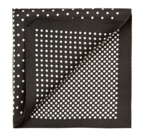 czarno-biała poszetka
