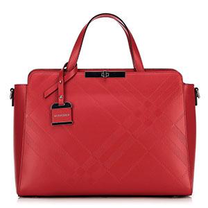 czerwony kuferek damski