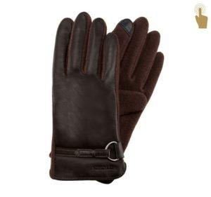 dotykowe rękawiczki w brązie