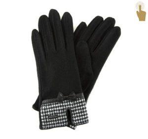 dotykowe rękawiczki z kokardką