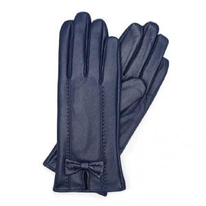 granatowe rękawiczki damskie