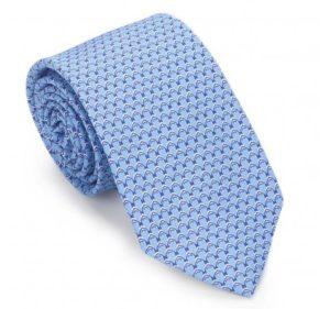 niebieski krawat męski