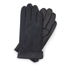 ocieplane rękawiczki z motywem w jodełkę