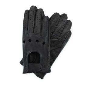 męskie rękawiczki samochodowe z zapięciem na rzep