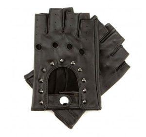 rękawiczki skórzane z ćwiekami