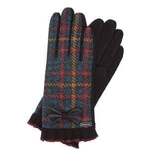 rękawiczki w kratę
