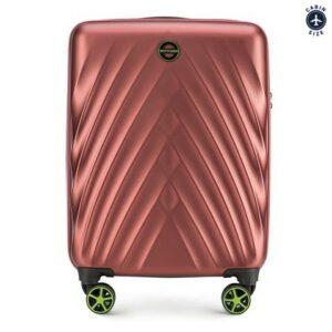 bordowa walizka z kolekcji Contrast Line