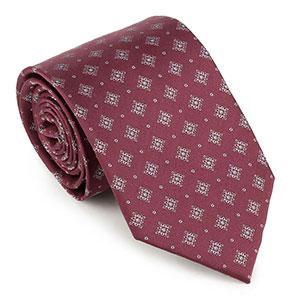 bordowy krawat męski