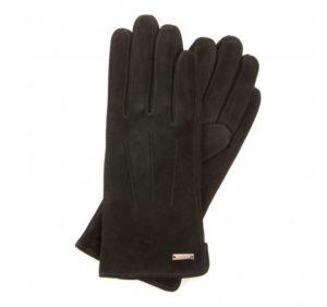 czarne rękawiczki z przeszyciami
