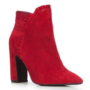 czerwone botki damskie