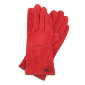 czerwone rękawiczki damskie – pomysł na prezent świąteczny