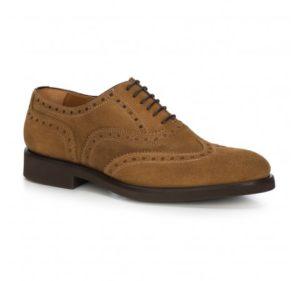 pantofle ze skóry nubukowej