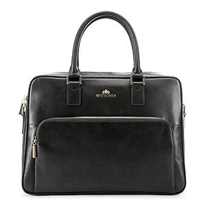 skórzana torba na laptopa z kolekcji Elegance