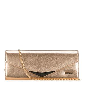 złota kopertówka damska