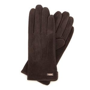 prezent dla przyjaciółki: brązowe rękawiczki z przeszyciami