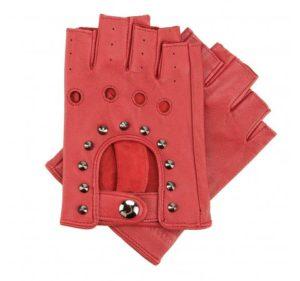 prezent dla przyjaciółki: czerwone rękawiczki damskie