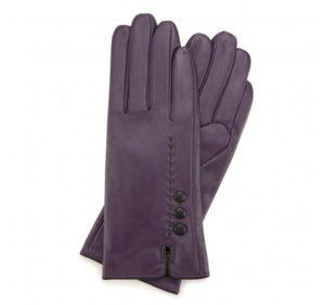 fioletowo-czarne rękawiczki damskie