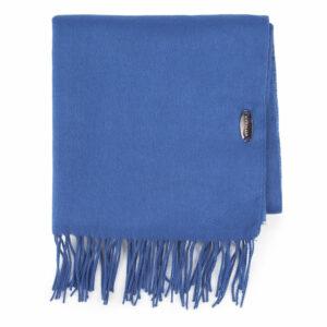 prezent dla przyjaciółki: niebieski szal