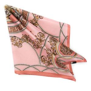 różowo-złota apaszka damska