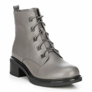 buty zimowe: szare workery damskie