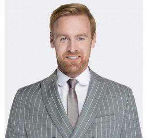 szary krawat męski