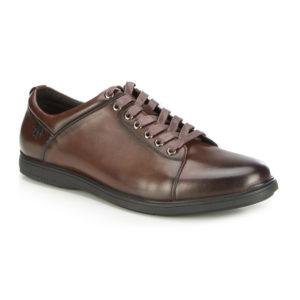 brązowe buty sportowe ze skóry