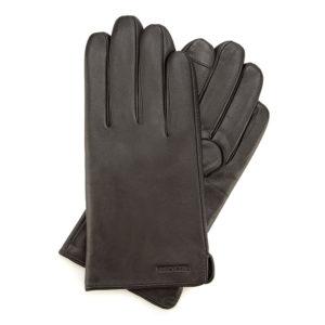 ciemnobrązowe rękawiczki męskie